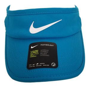 NIKE Featherlight Tennis Visor Turquoise M122 NEW